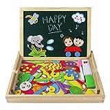 Puzzle di Legno Giocattolo di Puzzle con Magnetica Lavagnetta Educativi Giochi per Bambini 3 Anni immagine