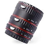 AF Macro Extensión Tubo Anillo Conjunto Enfoque Automático para Canon DSLR SLR EOS EF 50D 60D 600D 550D Red DC467