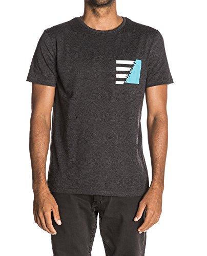 Rip Curl Herren T-Shirt Break Brush Tee Grau (dunkelgrau-meliert)
