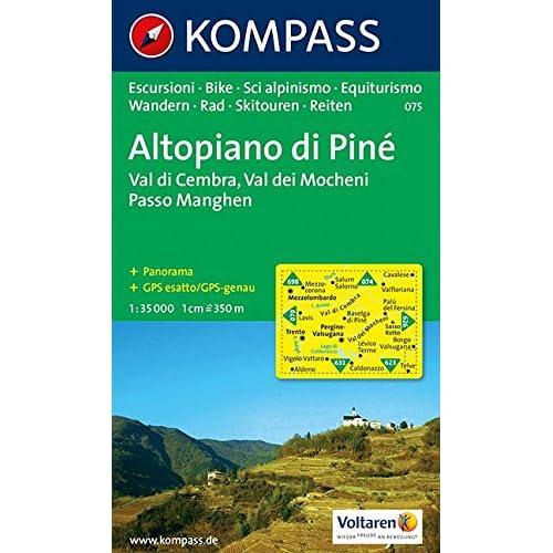 Carta Escursionistica N. 075. Trentino, Veneto. Altopiano Di Piné, Val Dei Mocheni 1:35.000