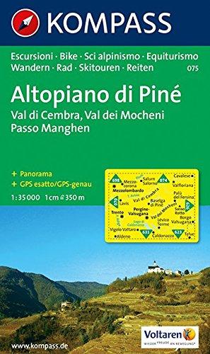 Carta escursionistica n. 075. Trentino, Veneto. Altopiano di Pin, val dei Mocheni 1:35.000