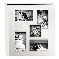 """ألبوم صور من الجلد المطرز بإطار Pioneer Collage منقوش """"للزفاف"""" باللون العاجي"""