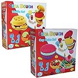 Crea Dough Cup Cake Set Waffel Maker Knete Backen Spielzeug Weihnachten Kinder