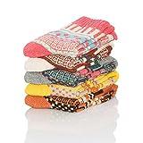 CrazySell 5 Paar Damen Winter Socken - Atmungsaktiv Warm Weich Bunte Farbe Premium Qualität klimaregulierende Wirkung (Style E)
