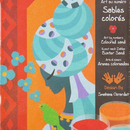 Imagen principal de Djeco - Juego de decoración con arena de colores, diseño de princesas [importado de Francia]