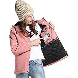 Ropa calefactable USB,Chaquetas al Aire Libre Hombres y Mujeres Ropa de algodón con calefacción USB Inteligente Otoño e Invierno Ropa de montaña cálida Abrigo de Gran tamaño - Rosa Rojo + M