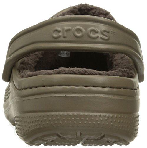 Crocs Crocswinterclg, Zoccoli Unisex – Adulto, Black Marrone (Walnut/espresso)