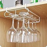 welinks Küche Wein Glas Aufbewahrung Rack, zweireihig Schrank Weinglas Aufhängung Haken Aufhänger, unter Regal Glas Halter Aufhänger Trocknen Rack Multifunktional Brust Schrank Wein Glas Lagerung Organizer Halter
