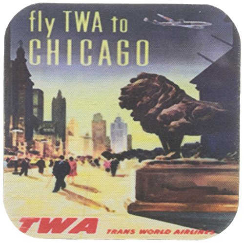 3drose-cst-151063-1-vintage-twa-chicago-travel-poster-soft-coasters-set-of-4