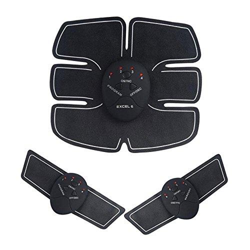 rtel, Teepao Elektro EMS Muskeltrainer ABToner Electronic Wireless Muskelaufbau Gürtel Ultimate Gym Bauch Arm Bein Training für Männer Frauen 6 Modi & 10 Ebenen ()