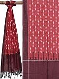 Red Pochampally Ikat Cotton Handloom Stole
