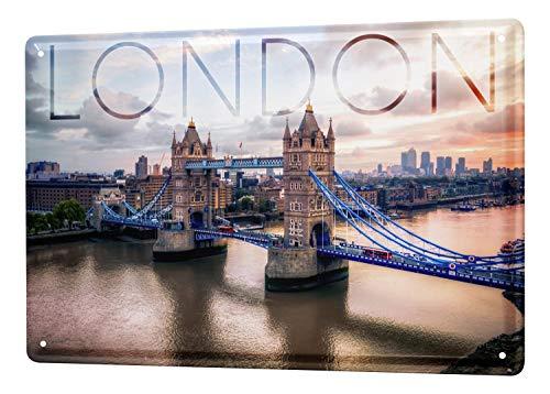 Blechschild Stadt London