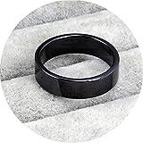 Bishilin Keramik Ring Herren Gothic Hochglanzpoliert Rund Partnerringe Männer Ring Schwarz Größe 57 (18.1)