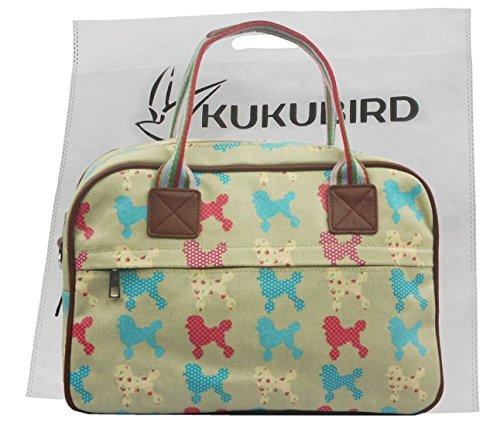 Kukubird Rose Tela Opaca Stampa Floreale Satchel Con Sacchetto Di Polvere Di Kukubird Sky Blue