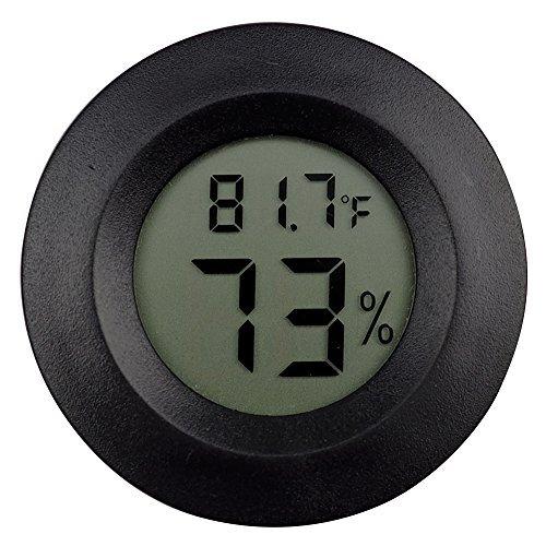 2Stück Digital Reptile Thermometer umschaltbar Celsius Fahrenheit Lizard Spider Schildkröte Terrarium Tank Hygrometer