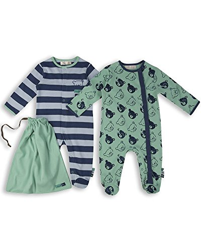 The Essential One - Baby Jungen Schlafanzuge/Schlafanzug/Einteiler/ Strampler (2-er Pack mit Beutel) - ESS165 - 68/74 (6-9 Monate)