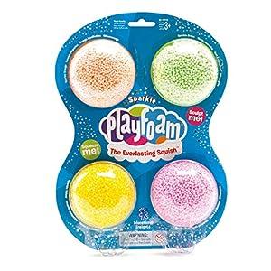 Learning Resources- Espuma para Juegos PlayFoam con Brillos (Set de 4), Color (EI-1910)