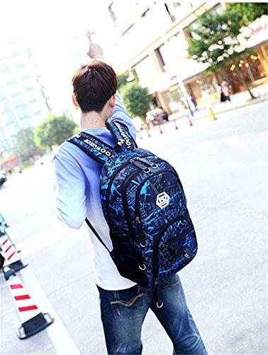 Imagen de maod  de escolar oxford tela bolsa de ordenador resistente al agua bolso del senderismo juveniles casual backpack de viaje diario azul 1  alternativa