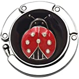 "Voberry@ Foldable Purse Hook, Mini Butterfly Beetle Hanger Folding Table Hanger Holder s Bag Storage Folded Size: 4.5cm x 4.5cm x 0.5cm/1.77"" x 1.77"" E"