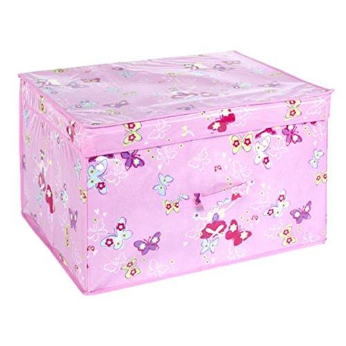 FAIRYLAND plegable Pop Up habitación organizador pecho caja de almacenamiento para niñas y niños, tela, rosa, 50x 30x 40cm