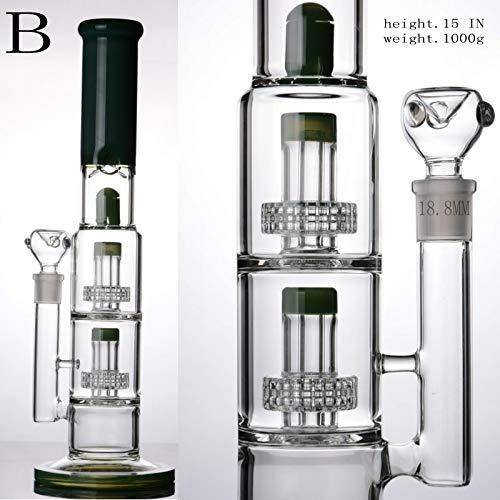 Mosi Mimi Recycler Oil Rig 18.8mm Glas Bong Zubehör Glass Hookahs Pipe (Schwarz) -