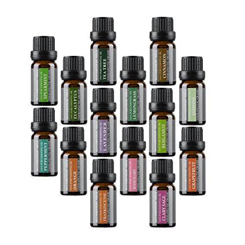 New aromatherapy 100% pure Therapeutic grade Basic set regalo olio essenziale di Wasserstein (top 14)