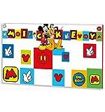 Stor - Cabecero de cama para niños   MICKEY ICONS   DISNEY - Dimensiones: 90 x 50 cm. - Varias licencias