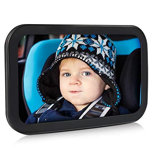 Spiegel Auto Baby, Pomisty Rücksitzspiegel Auto für Baby,Autospiegel Kind Baby,Babyspiegel mit Sicher & Bruchsicher, 360 °Rotation für Kinder in Kinderschale, Kindersitz, Babysitz