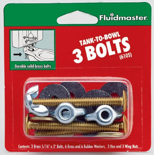 Fluidmaster 6105 2-3/4-Inch Tank to Bowl with Three Bolts by Fluidmaster