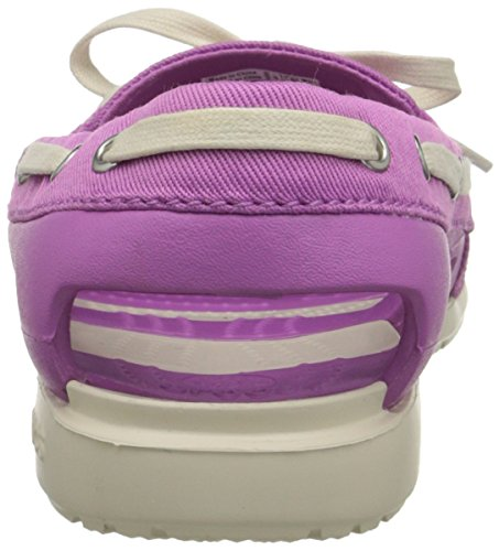 crocs Damen Beach Line Boat Shoe Mix W, Violett White/Black/Sulphur