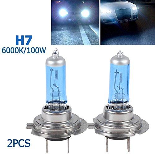 ePathChina - 2 bombillas para coche de xenon H7 100 W, 6000K H7