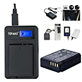 TOP-MAX® Ultra High Power LP-E10 Battery + USB Battery Charger with LCD Screen