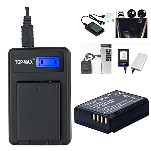top-maxr-ultra-high-power-lp-e10-battery-usb-battery-charger-with-lcd-screen-for-canon-lpe10-eos-110