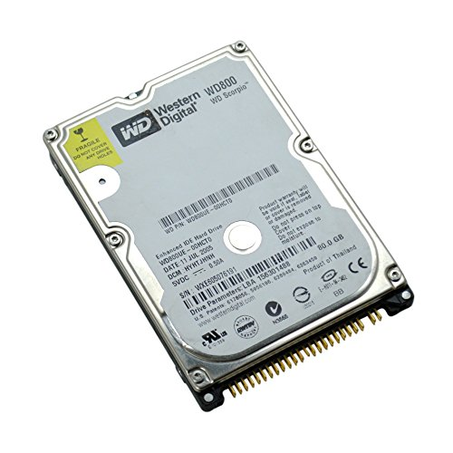 Western Digital WD Laptop 80GB Festplatte Scorpio WD800UE-00HCT0 2,5 Zoll - Ide Festplatte 80 Gb