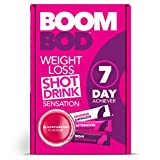 Boombod Weight Loss Shot Drink, Glucomannan, High Potency, Diet and Exercise Enhancement, Promote Fat Loss, Keto and Vegetarian Friendly, Sugar and Aspartame Free, Gluten-Free - Blackcurrant Flavour