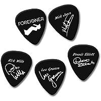FOREIGNER MICK JONES RICK LOU DENNIS signature print plectrum guitar pick picks