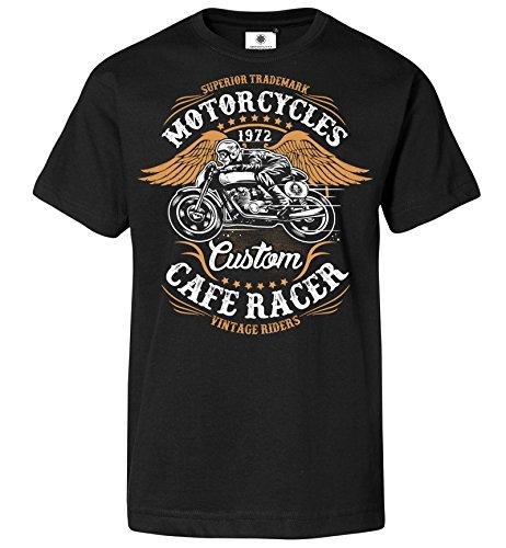 ker Motorrad T-Shirt Vintage Riders (XL, Schwarz) (60er Jahre Biker)