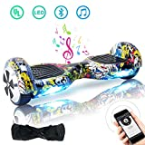 Windgoo Hoverboard Bluetooth 6,5 Pouces,Gyropode Smart Scooter 700W, Self Balance Board avec LED pour Enfants et Adultes