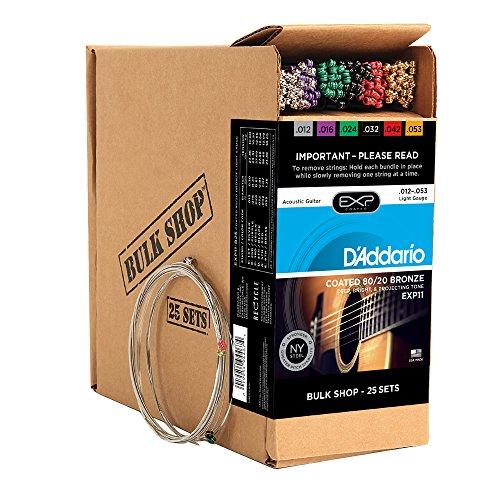 DADDARIO EXP11 B25   JUEGO DE CUERDAS PARA GUITARRA ACUSTICA DE FOSFORO/BRONCE   012  056