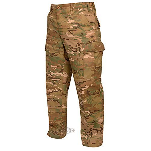 Tru-Spec BDU Pants, 50/50 NYCO Rip, MultiCam, Large, Long 1221025 by Tru-Spec