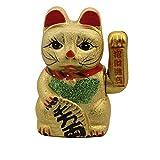 Superfreak Glückskatze - Winkekatze aus Keramik - 17 cm - Gold