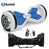 Cool&Fun HoverBoard/Skateboard/Gyropode Éléctrique Auto-équilibrage Bluetooth Scooter Trottinette Électrique 8 Pouces, (WhiteB)