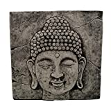 Hermosa relieve pared de Feng Shui de cabeza de Buda de piedra fundido a las heladas.