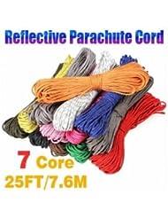 Pakhuis 25 pieds 7 Strand base interne réfléchissante corde de parachute - Orange