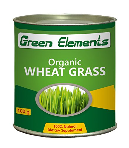Green Elements - Organic Wheat Grass Powder, 100g  available at amazon for Rs.349