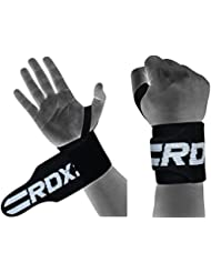 RDX Weight Lifting Wrist Wraps Gym Straps Crossfit Bodybuilding Power Training Workout Exercise