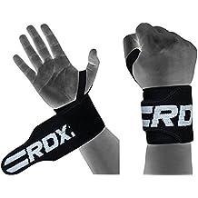 RDX Palestra Fitness Cinghie Sollevamento Pesi Fasce Polso Peso Supporto, nero, taglia unica