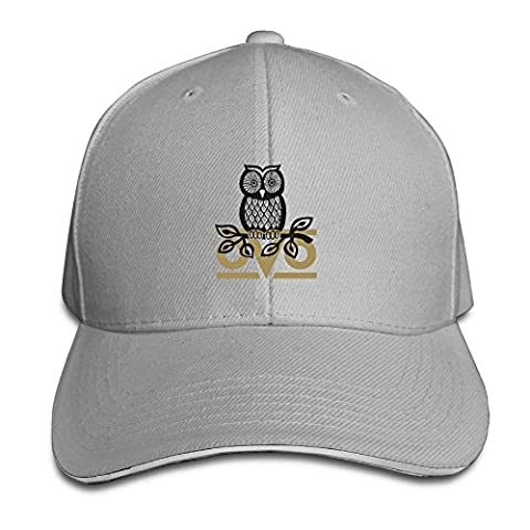 Hittings Unisex Owl OVO Adjustable Snapback Sandwich Bill Cap Hunting Peak Hat/Cap - Ash Ash