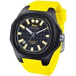 iTime Unisex Armbanduhr PH4900-C-PH01T Analog Silikon-PHN1 PH4901 Gelb