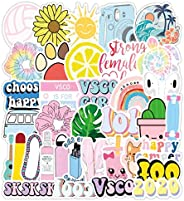 Vsco Cute Stickers for Hydro Flask[50pcs] Vinyl Sticker for Laptop Cups Phone Case Computer PC Water Bottle Bi